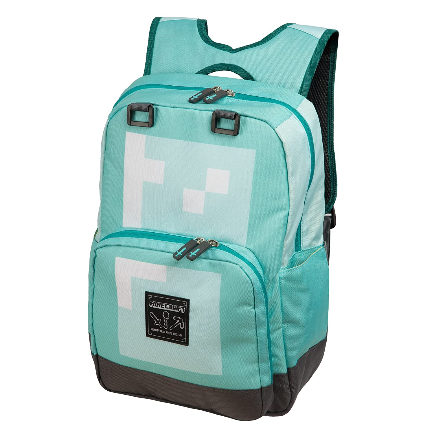 """Official Minecraft Silver 18/"""" Backpack"""