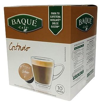 Cafés Baqué Cápsulas Compatibles Dolce Gusto Cortado - 60 gr