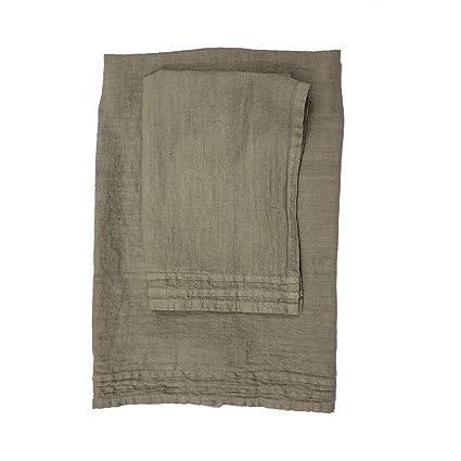 La Fabbrica del Lino Set Asciugamano Viso + Asciugamano ospite in ...