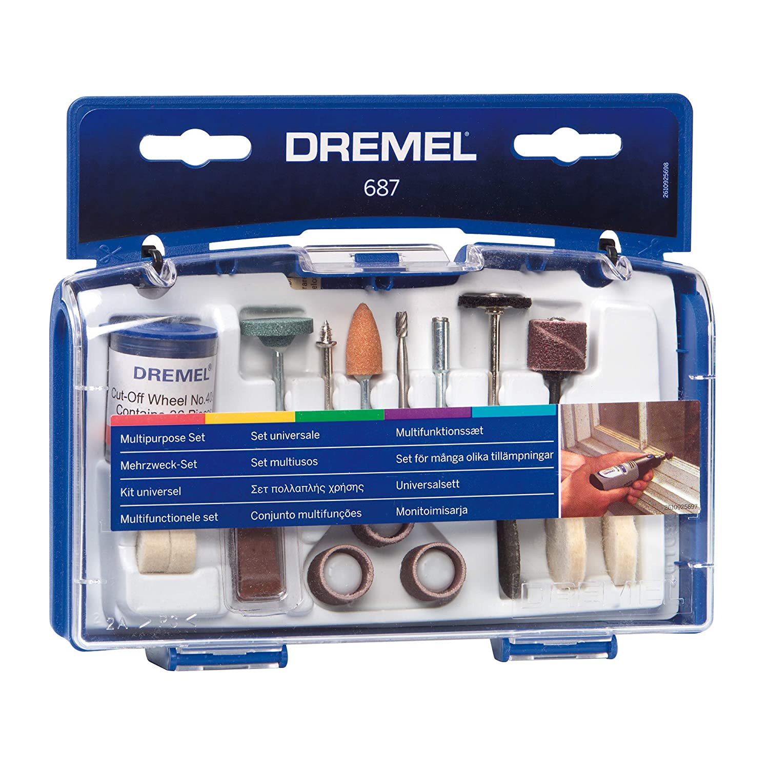 Dremel 687-01 52-Piece General Purpose Rotary Tool Accessory KitWith Case