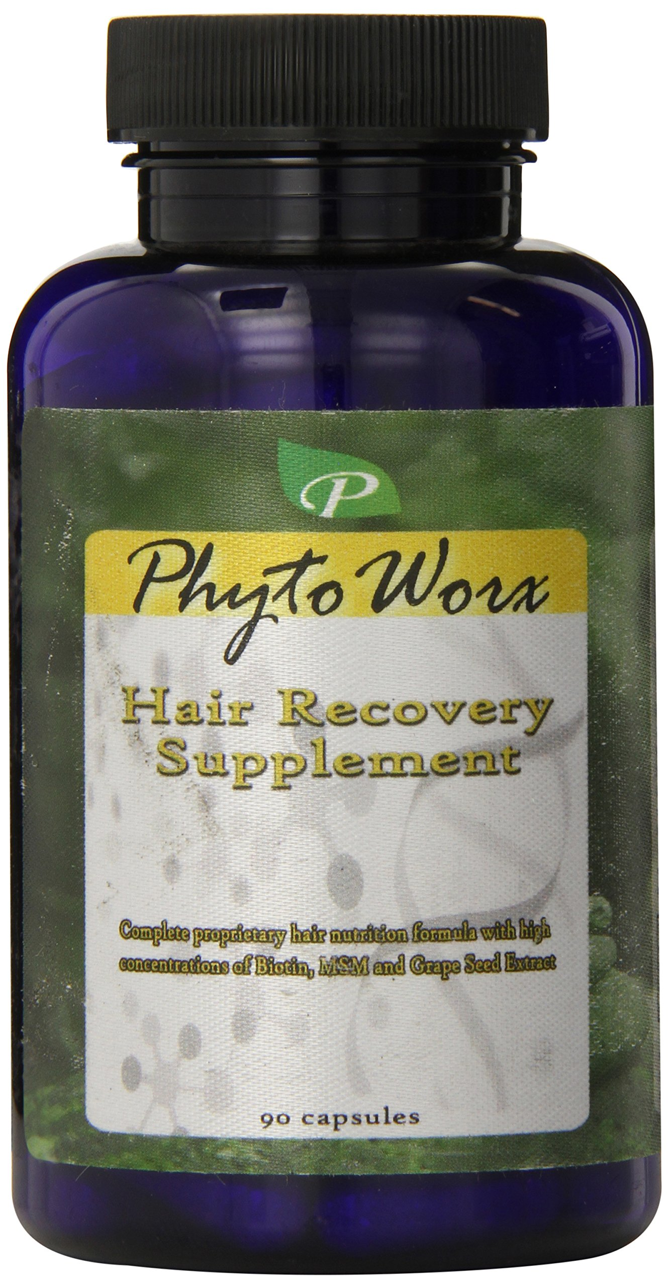 PhytoWorx Hair Recovery and Regrowth Supplement | Against All types of Hair Loss | Contains Grape Seed Extract and MSM for Rapid Growth