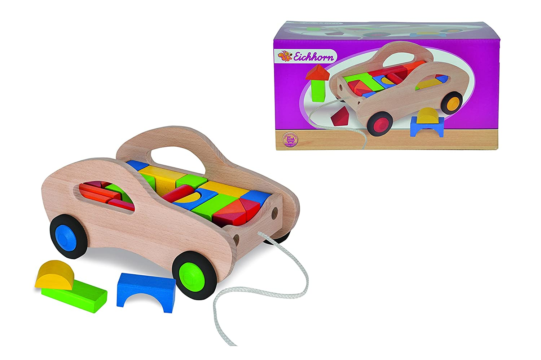 calidad de primera clase Eichhorn 100001869 Madera Multicolor juguete juguete juguete de arrastre - Juguetes de arrastre (Multicolor, Madera, 12 mes(es), 4 rueda(s), Multicolor)  hasta 60% de descuento
