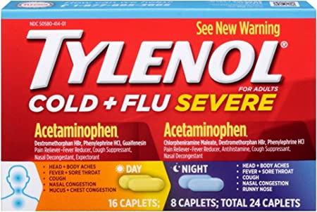 TYLENOL Cold Flu Severe Day Night Caplets 24 Caplets price in pakistan