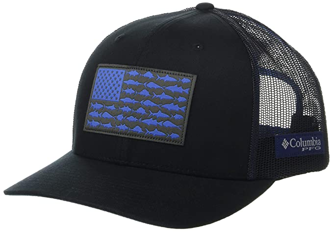 fa677ad8999994 Amazon.com : Columbia Unisex Pfg Mesh Snap Back Fish Flag Ball Cap, Black,  Graphite, One Size : Clothing