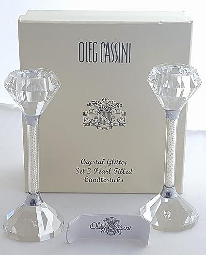 Amazon Two 2 Piece Oleg Cassini 6 Crystal Glitter Pearl