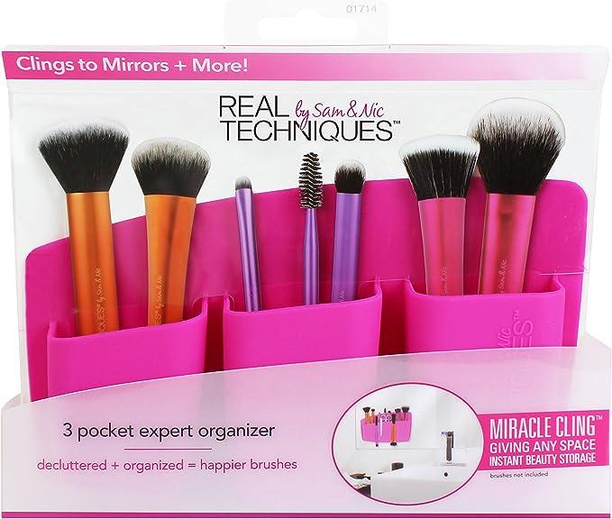 Real Techniques 3 Pocket Expert Organizer-Pink - Soporte con 3 Compartimentos Rosa 280 g: Amazon.es: Belleza