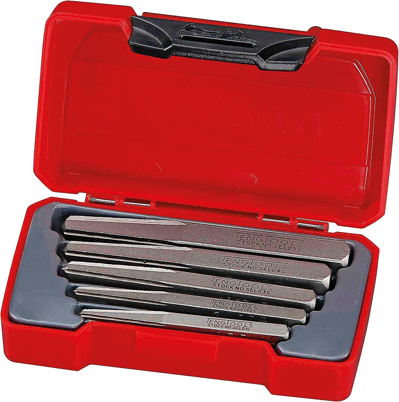 3, 4, 5, 7 /& 9 mm Perceuse Trous Teng Tools TMSE 05 S5 Pièce Vis Extracteur Set
