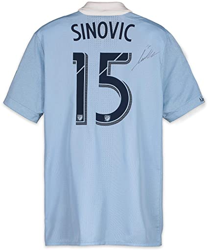 36703f82dbf Seth Sinovic Sporting Kansas City Autographed Match-Used Blue #15 Jersey  from the 2018 MLS Season - Fanatics Authentic Certified at Amazon's Sports  ...