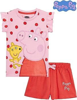 Regalos para Ni/ñas 2-6 A/ños Ropa de Ni/ña con Las Princesas Anna y Elsa Disney Frozen Pijama Ni/ña Verano Conjuntos de 2 Piezas Camiseta y Pantalones Cortos Ni/ña