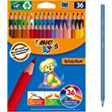 BIC Kids Evolution ECOlutions Colouring Pencil - Assorted Colours, Pack of 36 Coloured Pencils for Kids