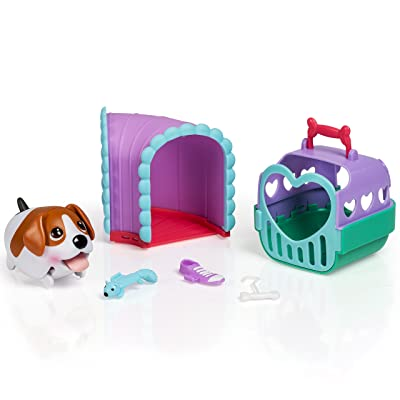 Chubby Puppies Beagle Puppy Tunnel Playset Plus Carrier: Toys & Games
