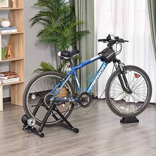 HOMCOM Rollos/Entrenamiento de Bicicleta estática con Freno ...