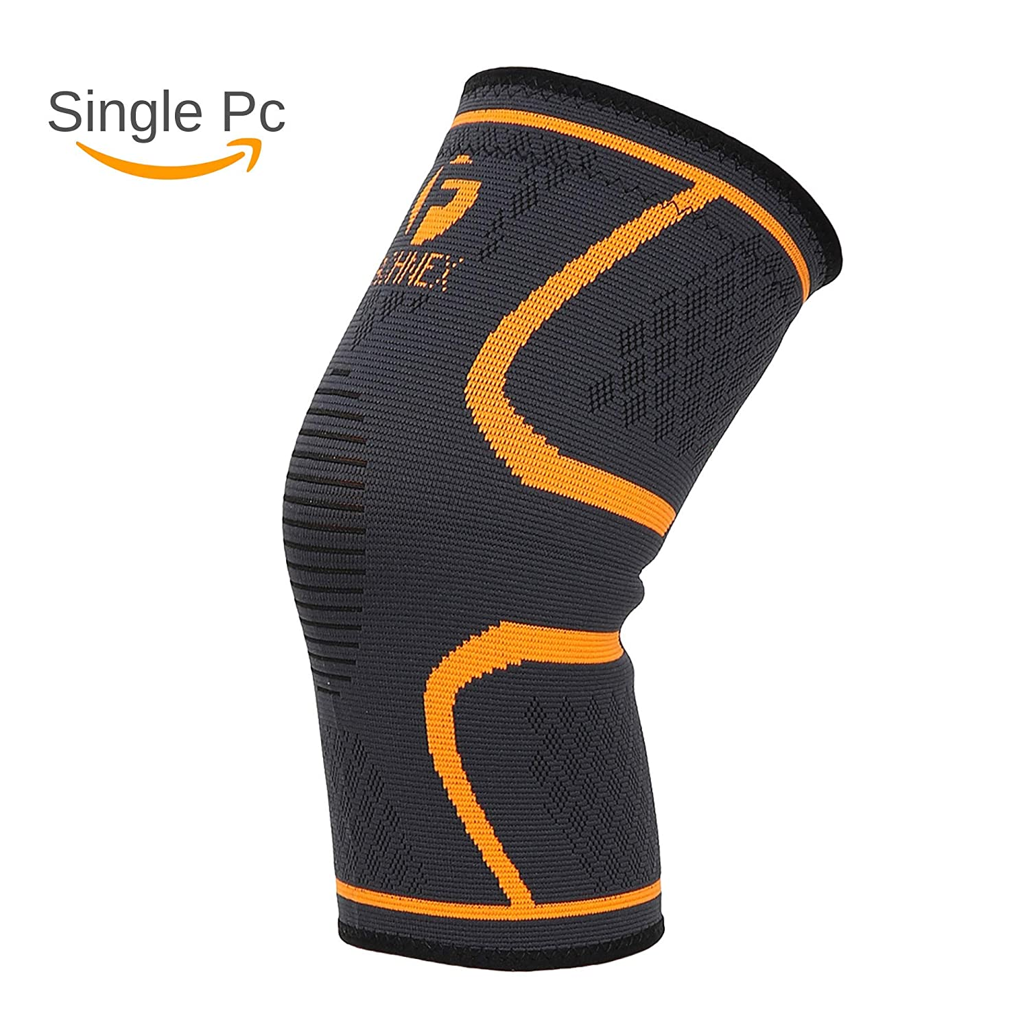 71543e092492 Buy Fashnex Support Sleeve for knee cap pain, running, gym, sports for men  & women (Single Pc), Orange, Medium Size Online at Low Prices in India -  Amazon. ...