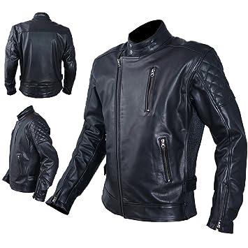 Blouson de moto cuir homme