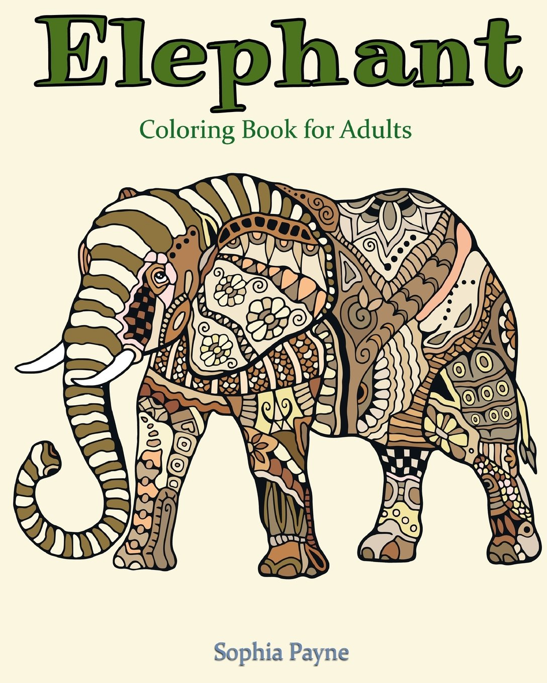 Elephant Coloring Adults Sophia Payne Product Image