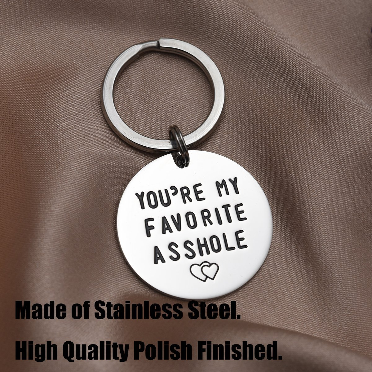 LParkin Youre My Favorite Asshole Keychain Funny Keychain Funny Man Gift Valentines Day Funny Gift for Husband Funny Boyfriend Gift
