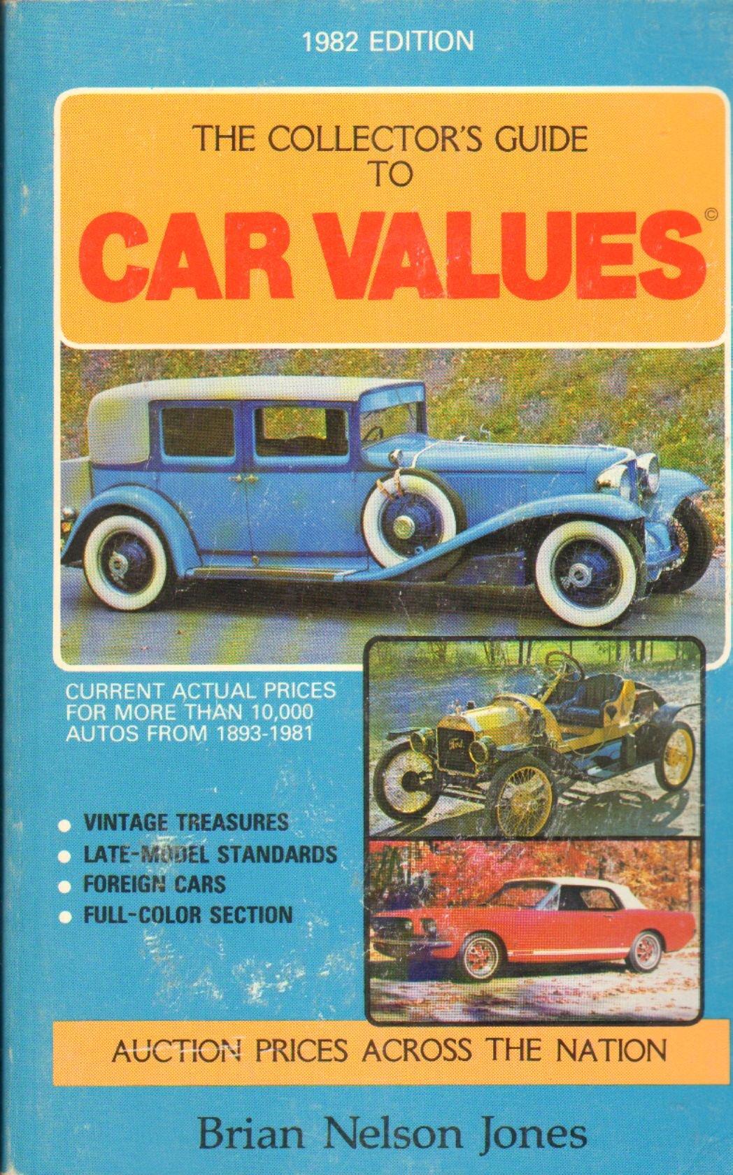 Collector Car Values >> Collector S Guide Car Values 1982 B Jones 9780528881428