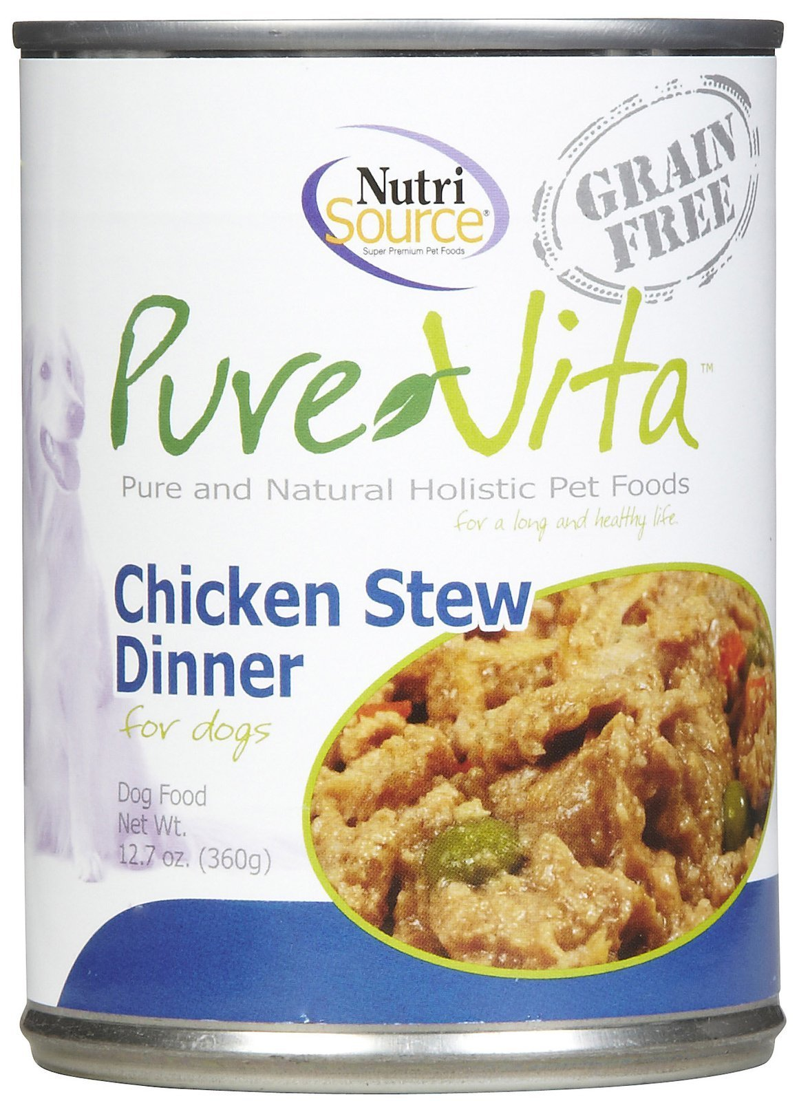 Tuffy's Pet Food 131735 12-Pack Tuffy Pure Vita Chicken Stew Food for Dogs, 12.7-Ounce
