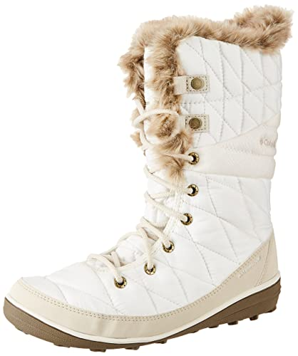 Columbia Heavenly Omni-Heat Snow Boot Winter Shoe - Sea Salt/Fawn - Womens