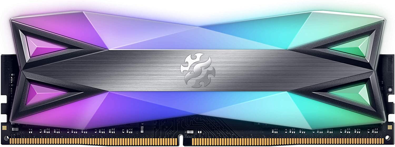 XPG DDR4 D60G RGB 16GB (2x8GB) 3600MHz PC4-28800 U-DIMM Desktop Memory CL18-20-20 (AX4U360038G18A-DT60)
