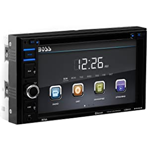 BOSS AUDIO BV9364B Double-DIN 6.2 inch Touchscreen DVD Player Receiver, Bluetooth, Wireless Remote