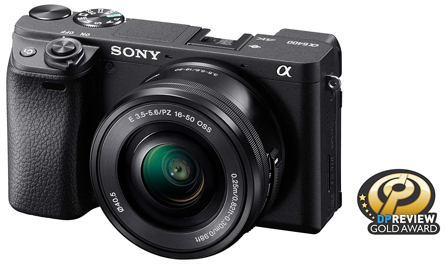 Sony Alpha a6400 Mirrorless Camera: Compact APS-C Interchangeable Lens Digital Camera with Real-Time Eye Auto Focus, 4K Video, Flip Screen & 16-50mm Lens