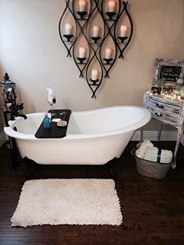 67 Cast Iron Slipper Tub with 7 Faucet hole Drillings Oil Rubbed Bronze Feet- Clay