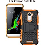 Heartly Rugged Shock Proof Tough Armor Back Case For Coolpad Note 3 Lite ( 5 Inch ) - Mobile Orange