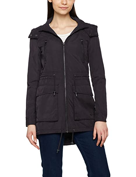 Only Onlanna Spring Parka Jacket CC Otw, Abrigo para Mujer, Negro (Black)