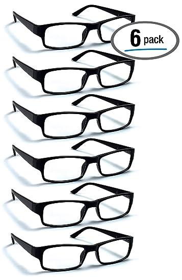 Amazon.com: Pack de 6 gafas de lectura de Boast Eyewear con ...