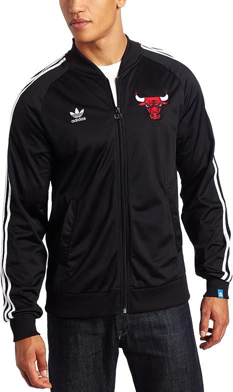 adidas Chicago Bulls Originals Legacy Primary Logo Black Track ...