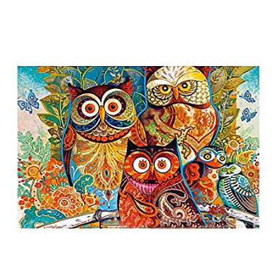 WAFamily Puzzle 1000 Piece Jigsaw Puzzle for Adults or Kids Cat and Dog Pattern Families Game for Explore Creativity and Problem Solving Landscape Patte Puzzles Toy Wandbild (B): Health & Personal Care