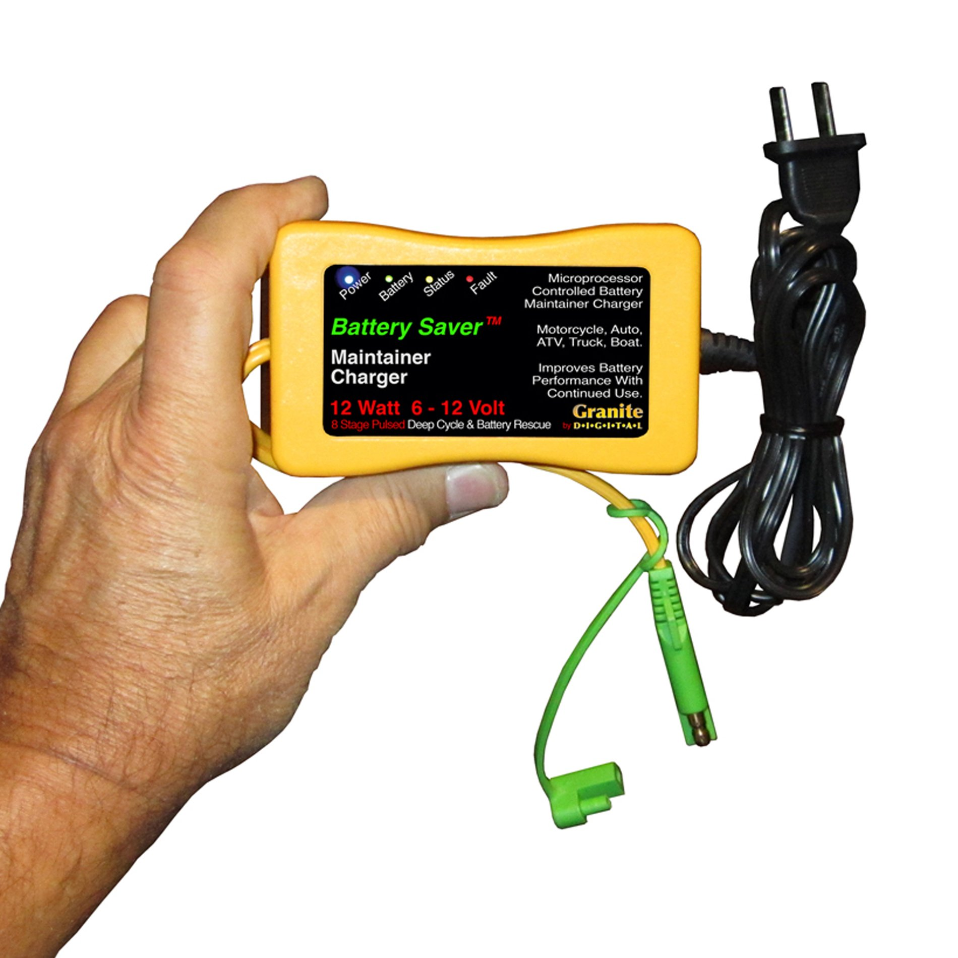 Battery Saver 6259 12W Pulse Battery Maintainer/Charger with Battery Rescue and 20' Extension Cables by Battery Saver (Image #5)