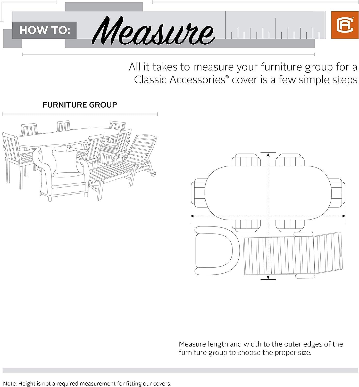 Classic Accessories 56-329-041001-EC Patio Furniture, Grey Storigami General Purpose Cover, Large