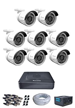 iBal 720P 1.0 MP HD Surveillance Cameras with 8 Channel HD DVR - Kit Includes( 8 Bullet, HD DVR, CCTV SMPS, 16 BNC, 8 DC Connectors, 90 Meter Cable) Trail & Game Cameras at amazon