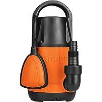 Truper BOS-1LP, Bomba eléctrica sumergible para agua limpia, 1 HP, plástica