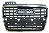 Audi A4 05-08 Front Grille Car Silver/Gray W/Chrome Frame
