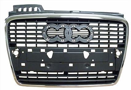 Amazon Com Audi A4 05 08 Front Grille Car Silver Gray W Chrome