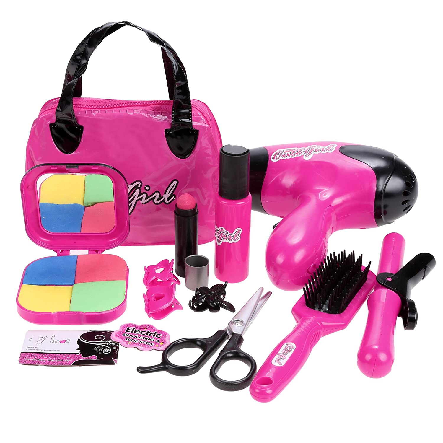 Smibie Kids Girls Pretend Play Beauty Makeup Set Kit Toys for