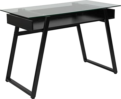 Flash Furniture Huntley Glass Computer Desk