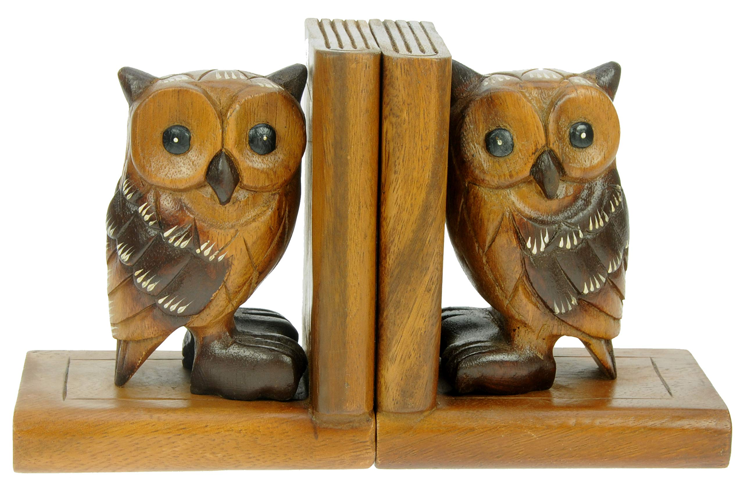 Hand painted wooden owl magnets set of 2