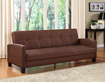 Amazon Com Dhp Delaney Sofa Sleeper In Rich Faux Leather