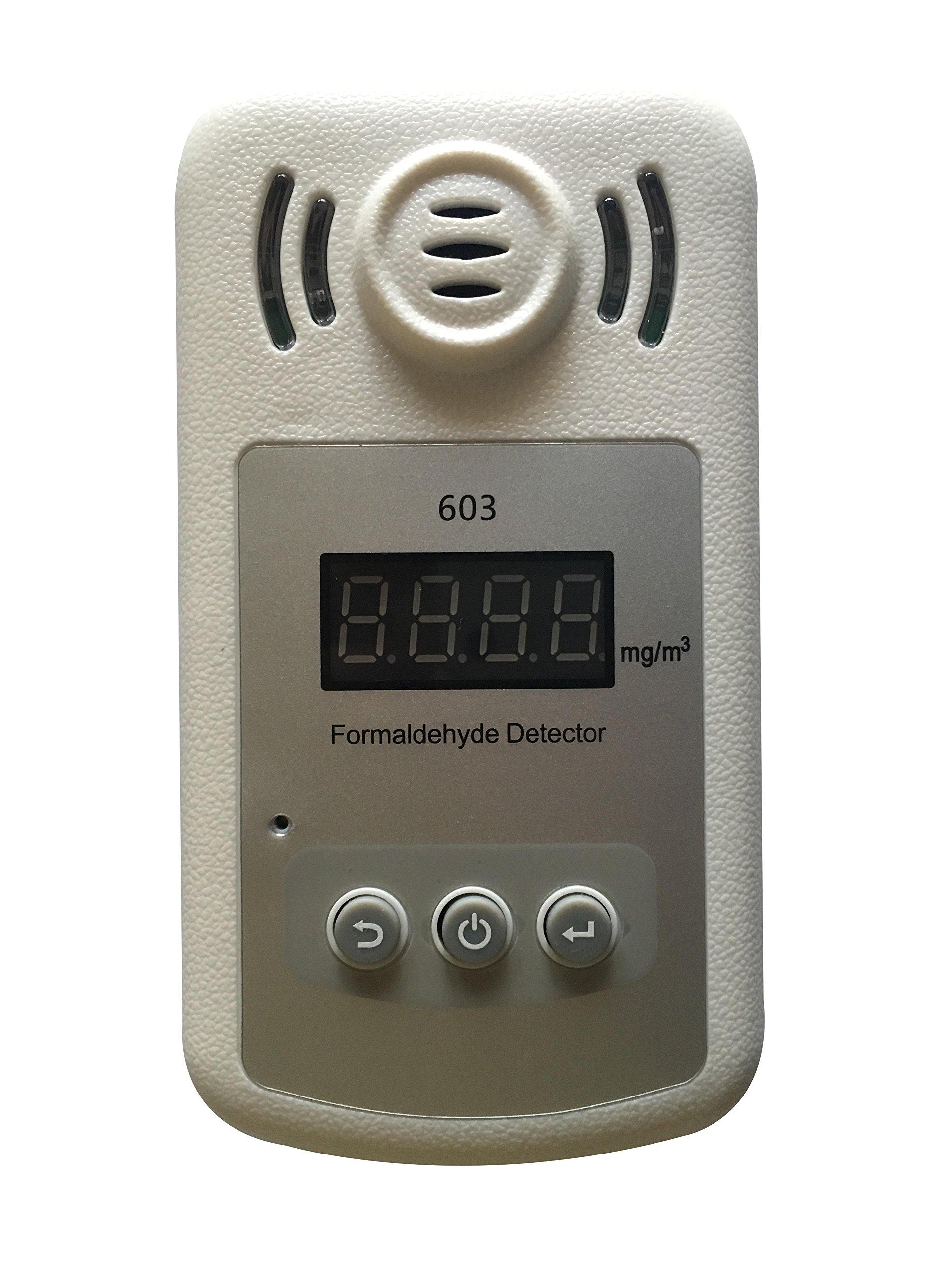 Air Quality Detector Indoor for Accurate Testing Formaldehyde(HCHO) Monitor, Air Quality Tester with LCD Display and Alarm for Car Outdoor Detection by Qooarker