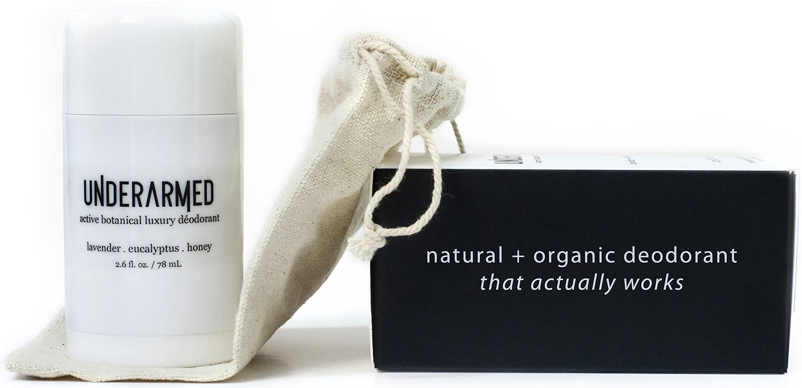 Natural Aluminum Free Deodorant Stick (that works!) Stay Fresh All Day - Underarmed For Women & Men - Organic, Healthy, Safe, Non Toxic - Phthalate, Paraben, Gluten & Cruelty Free