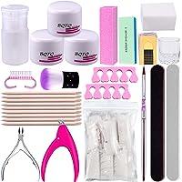 BQTQ Professional Acrylic Nail Art Kit with 3 Colors Acrylic Powder, False Nail Tips and Nail Clipper, Nail Art Tools…