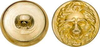 product image for C&C Metal Products 5352 Lion Head Metal Button, Size 30 Ligne, Gold, 36-Pack