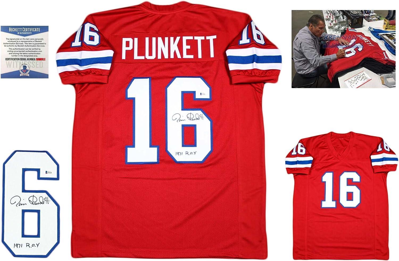 Jim Plunkett Autographed Signed Custom Jersey - Beckett - Pro ...