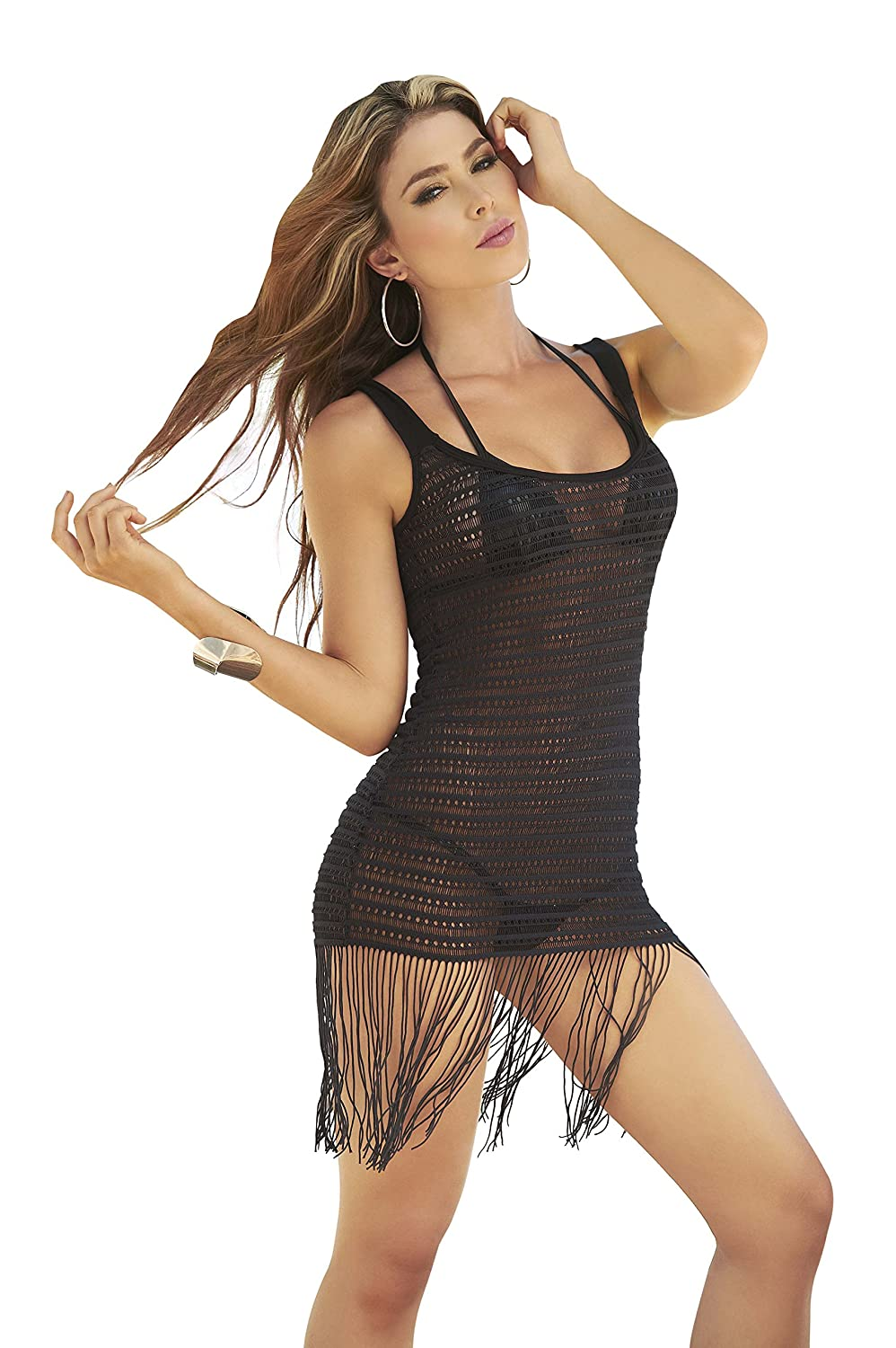 022ba52d81651 Amazon.com: Mapalé by AM:PM Women's Sheer Cover Up Beach Dress: Clothing