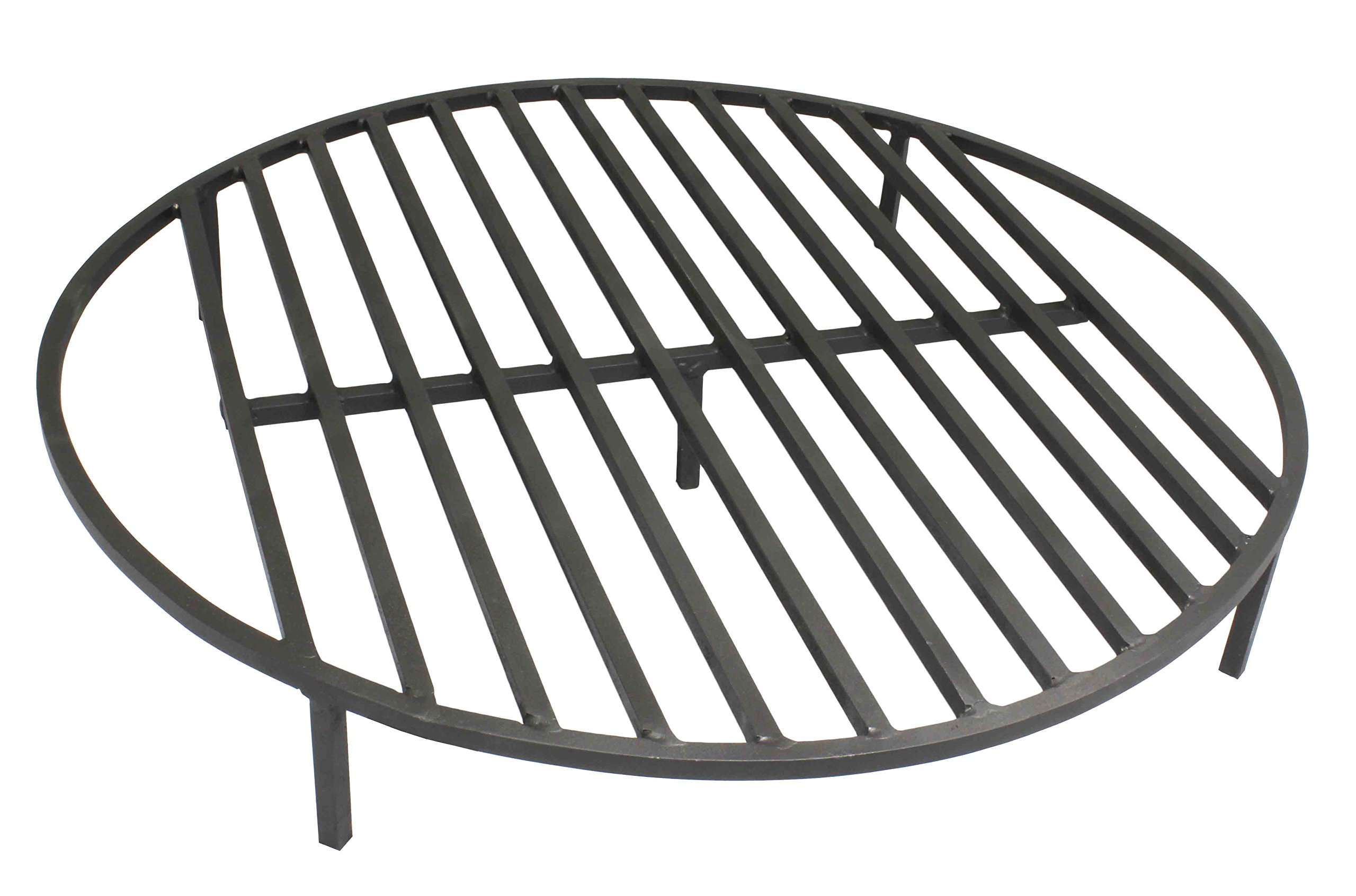 Titan Attachments Round Fire Pit Grate 30'' Heavy Duty Grill Cooking Campfire Camp Ring 1/2 Steel