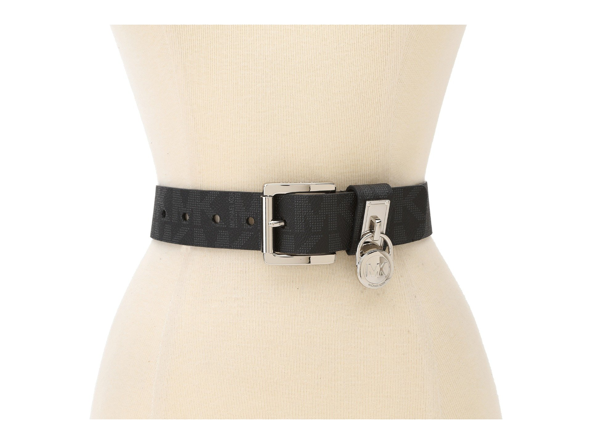 Michael Kors Hamilton Lock Monogram Belt M